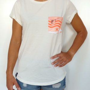 CAMISETA MUJER EARTH POSITIVE BLANCA