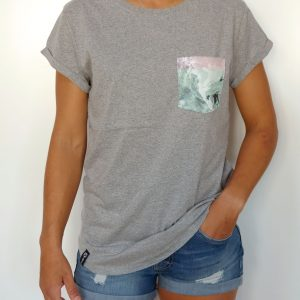 CAMISETA MUJER EARHT POSITIVE GRIS
